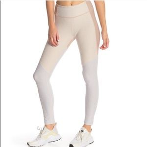 Outdoor Voices Colorblock Leggings in Oatmeal